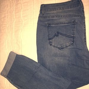 Stripe Jeans, Crop,